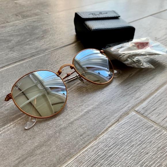 b1bd38cc6 Ray-Ban Accessories   Ray Ban Round Metal Folding Sunglasses   Poshmark